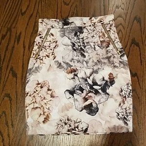 H&M floral high waisted skirt sz 8